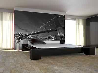 Wall Mural Photo Wallpaper Living Room BROOKLYN BRIDGE NEW YORK CITY Black Decor